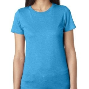 next level 6710 custom ladies triblend crew shirt bulk custom shirts vintage turquoise
