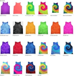 tie-die cd3500 custom tank top all colors