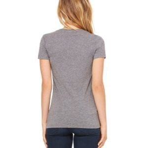 bulk custom shirts bella canvas 8435 custom woman's ladies' triblend deep vneck shirt back