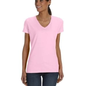 tom shirts fruit of the loom l39vr custom vneck ladies HD Cotton classic pink