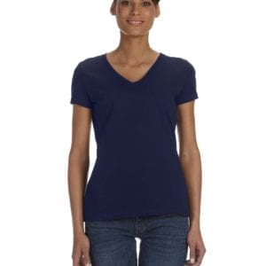 tom shirts fruit of the loom l39vr custom vneck ladies HD Cotton j navy