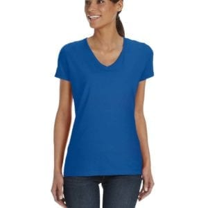 tom shirts fruit of the loom l39vr custom vneck ladies HD Cotton royal