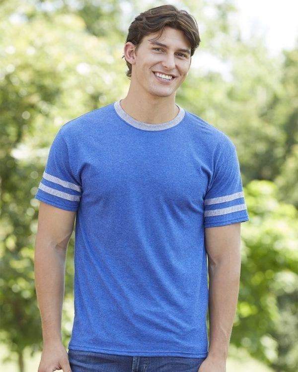bulk custom shirts jerzees 602mr adult custom triblend varsity ringer shirt