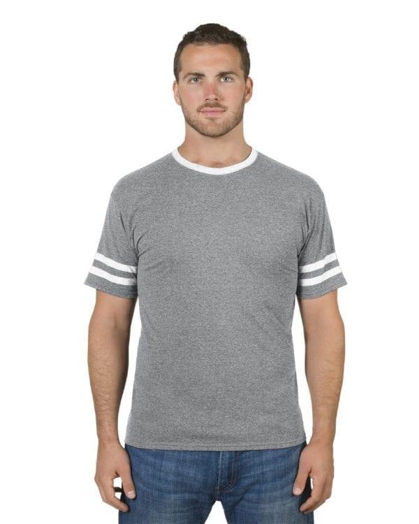 bulk custom shirts jerzees 602mr adult custom triblend varsity ringer shirt mint hth-oxford