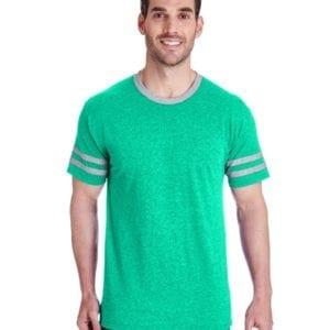 bulk custom shirts jerzees 602mr adult custom triblend varsity ringer shirt oxford - white
