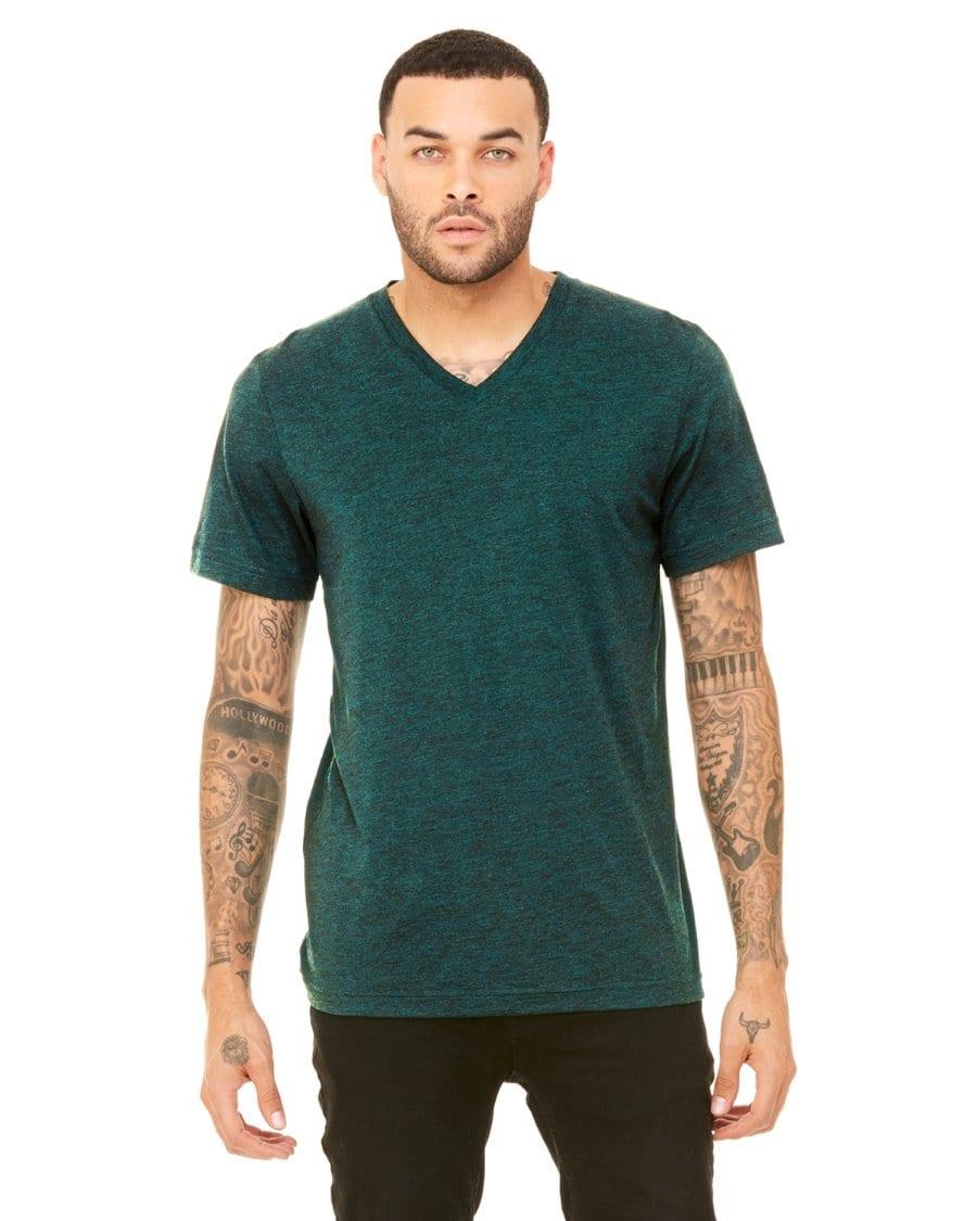44eb1e0f8 personalized shirts bella canvas 3415c unisex custom triblend shirt sleeve v -neck t shirt emerald