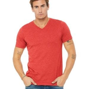 personalized shirts bella canvas 3415c unisex custom triblend shirt sleeve v-neck t shirt red triblend