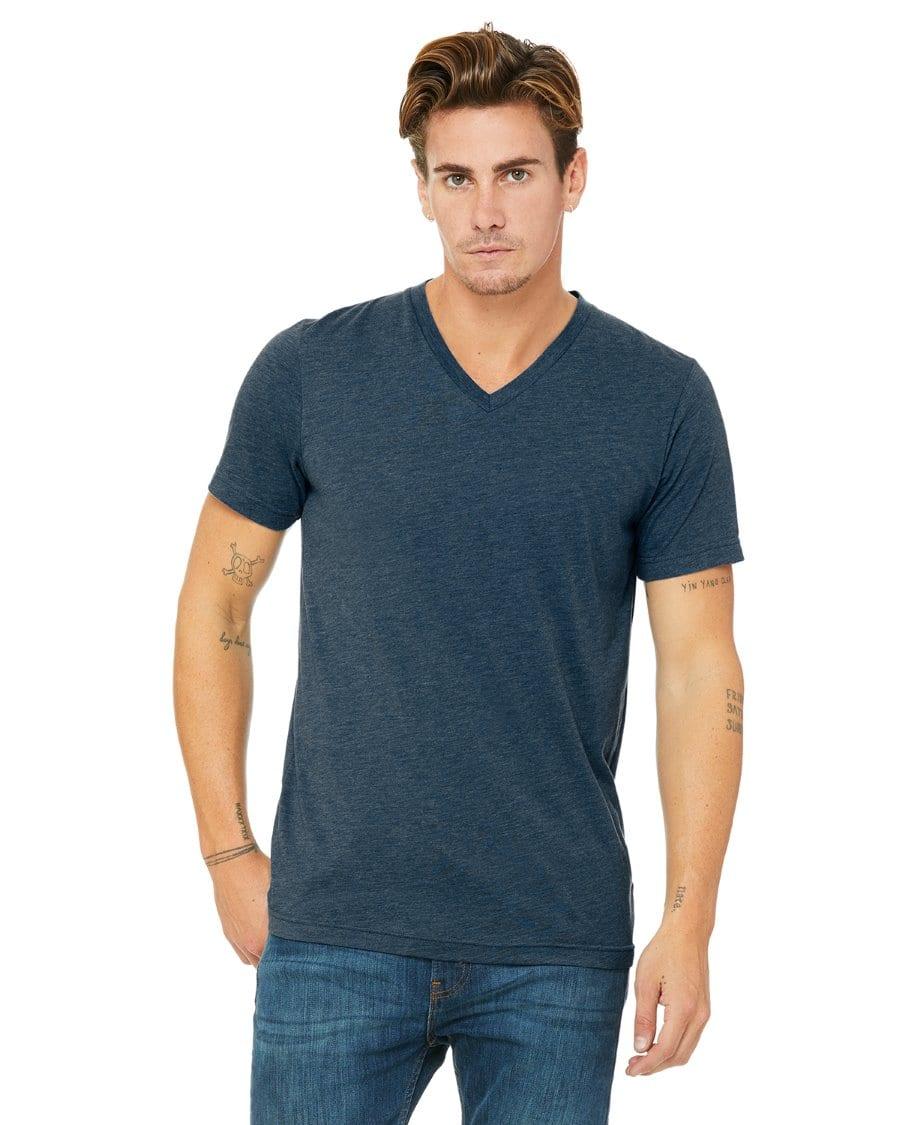 2c00e7e22 personalized shirts bella canvas 3415c unisex custom triblend shirt sleeve v -neck t shirt steel